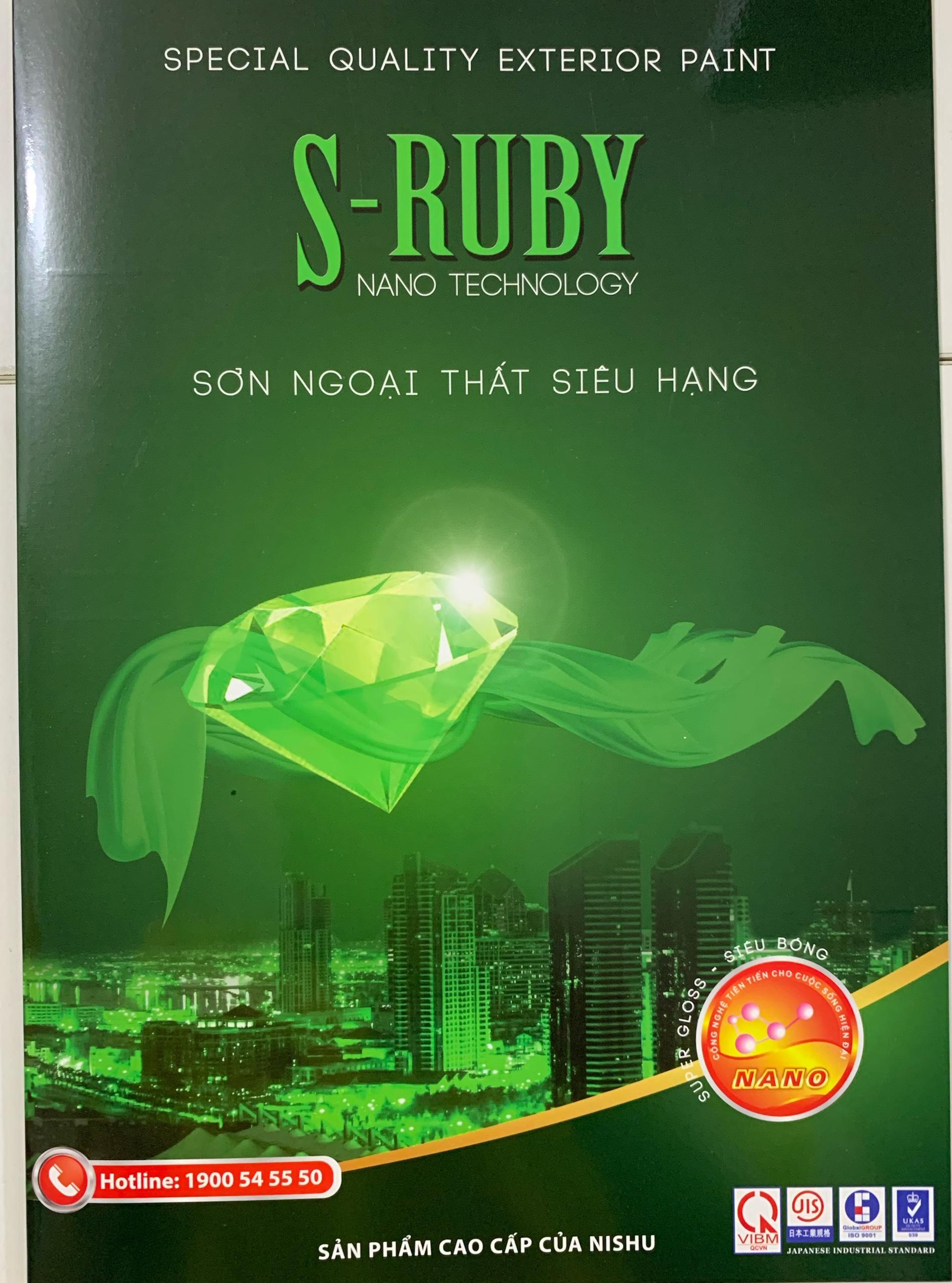 Bảng màu sơn Nishu Ruby ngoại thất siêu bóng