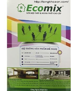Bảng màu sơn Ecomix ngoại thất