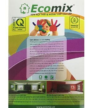 Bảng màu sơn Ecomix nội thất