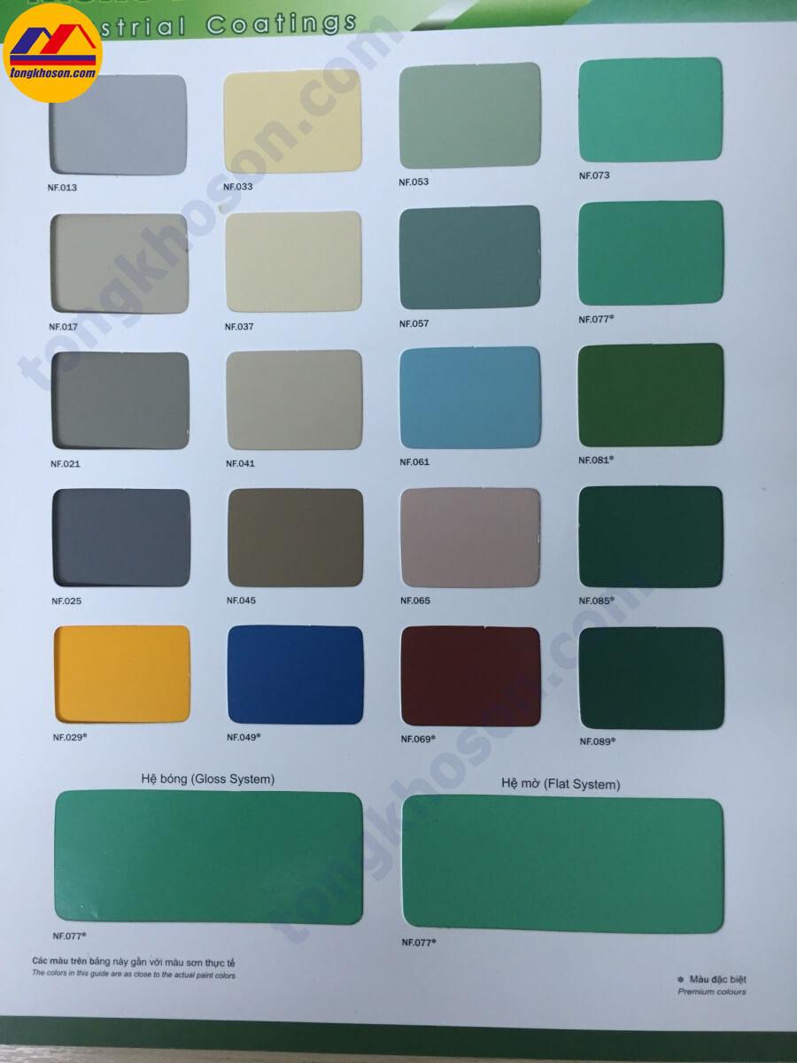 Bảng màu sơn Epoxy Nishu