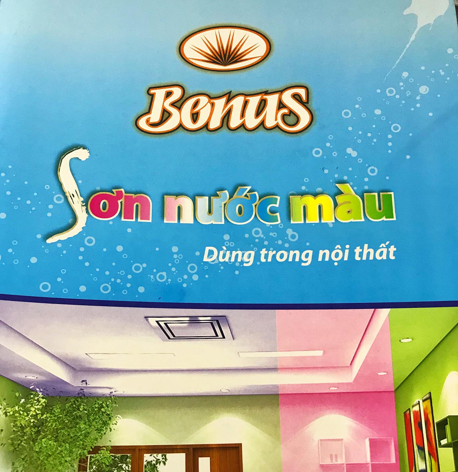 Bảng màu sơn nước nội thất Bonus