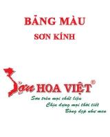 Bảng màu sơn kính Hoa Việt