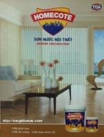 Bảng màu sơn Homecote nội thất