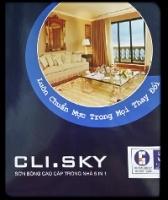 Bảng màu sơn Clima Sky nội thất bóng 5 in 1