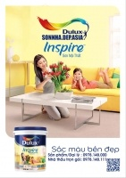 Bảng màu sơn Dulux Inspire nội thất mịn