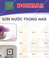 Bảng màu sơn Donasa trong nhà láng mịn
