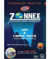 Bảng màu sơn Zonnex nội và ngoại thất