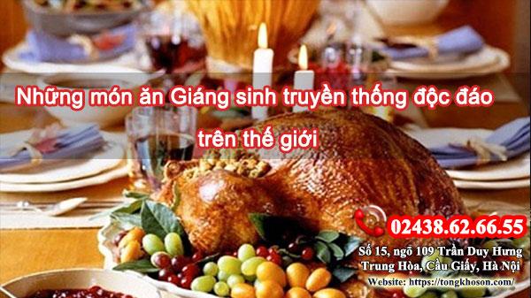 Những món ăn Giáng sinh truyền thống độc đáo trên thế giới