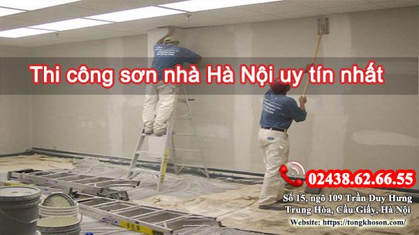Thi công sơn nhà tại Hà Nội uy tín