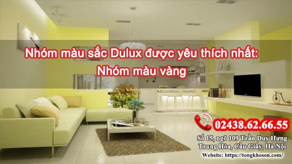Nhóm màu sắc Dulux được yêu thích nhất: màu vàng