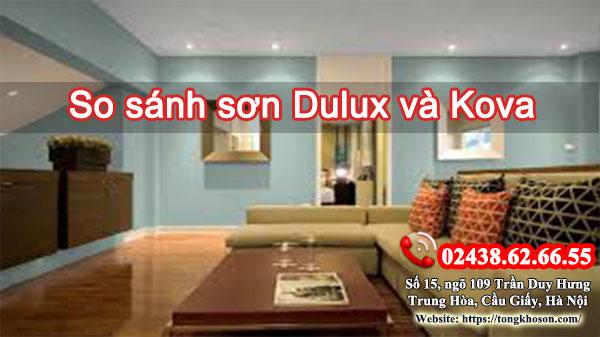 So sánh sơn Dulux và Kova