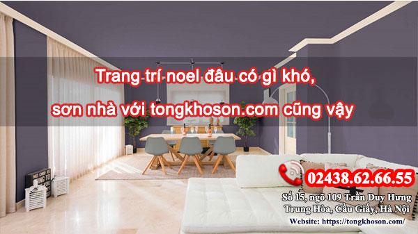 Trang trí noel đâu có gì khó, sơn nhà với tongkhoson.com cũng vậy