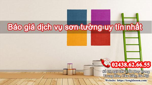 Báo giá dịch vụ sơn tường uy tín nhất