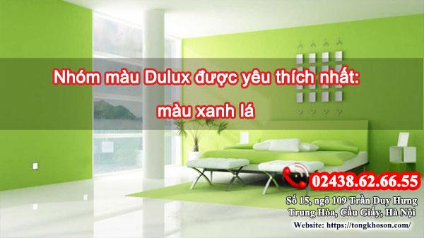 Nhóm màu Dulux được yêu thích nhất: màu xanh lá