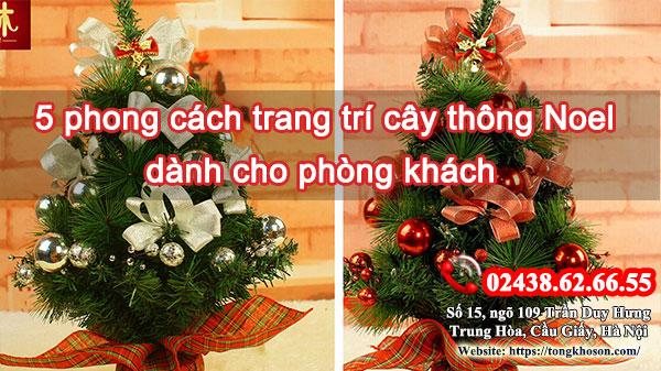 5 phong cách trang trí cây thông Noel dành cho phòng khách