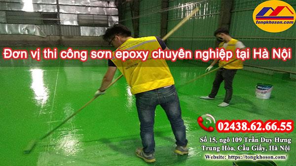 Đơn vị thi công sơn epoxy chuyên nghiệp tại Hà Nội