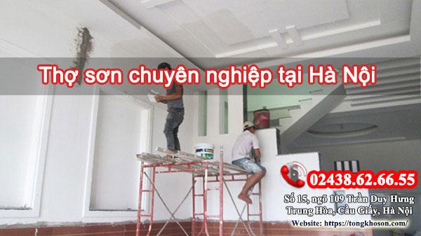 Thợ sơn chuyên nghiệp tại Hà Nội