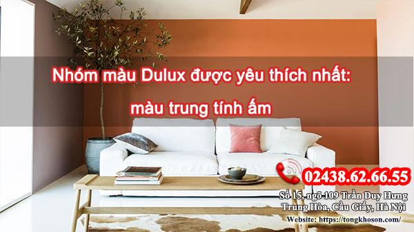 Nhóm màu Dulux được yêu thích nhất: màu trung tính ấm