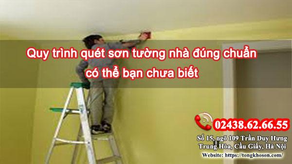 Quy trình quét sơn tường nhà đúng chuẩn có thể bạn chưa biết