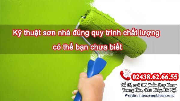 Kỹ thuật sơn nhà đúng quy trình chất lượng có thể bạn chưa biết