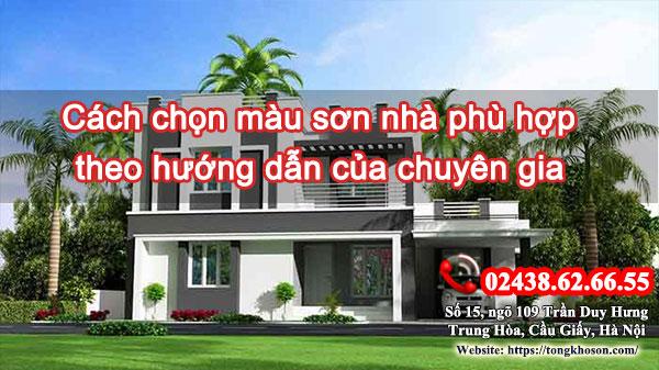 Cách chọn màu sơn nhà phù hợp theo hướng dẫn của chuyên gia