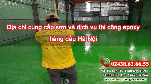 Địa chỉ cung cấp sơn và dịch vụ thi công sơn epoxy hàng đầu Hà Nội