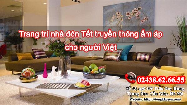 Trang trí nhà đón Tết truyền thống ấm áp cho người Việt