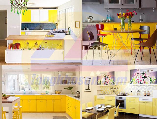 Sơn nhà theo tính cách với tông màu vàng
