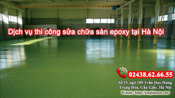 Dịch vụ thi công sửa chữa sàn epoxy tại Hà Nội