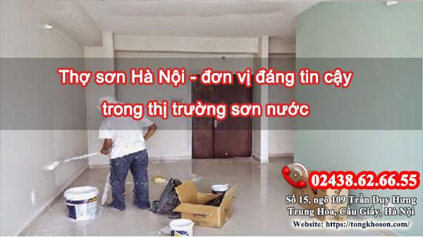 Thợ sơn Hà Nội - đơn vị đáng tin cậy trong thị trường sơn nước
