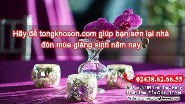 Hãy để tongkhoson.com giúp bạn sơn lại nhà đón mùa giáng sinh năm nay
