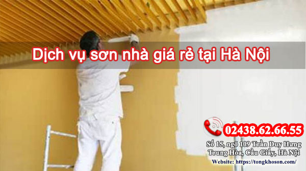 Dịch vụ sơn nhà giá rẻ tại Hà Nội