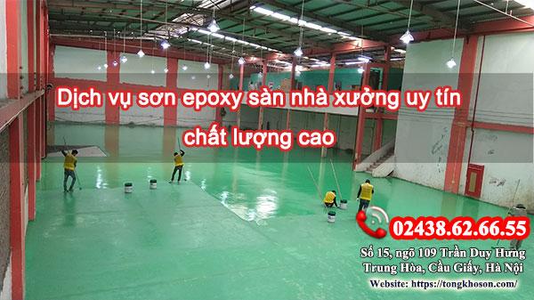 Dịch vụ sơn epoxy sàn nhà xưởng uy tín chất lượng cao