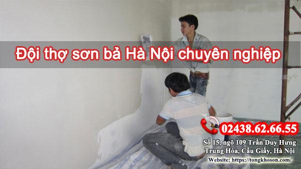 Đội thợ sơn bả Hà Nội chuyên nghiệp