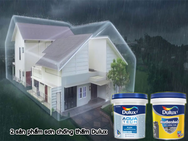 2 sản phẩm sơn chống thấm của Dulux