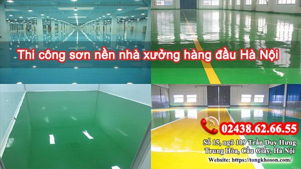 Thi công sơn nền nhà xưởng hàng đầu Hà Nội