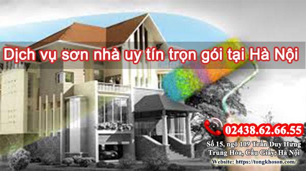 Dịch vụ sơn nhà uy tín trọn gói tại Hà Nội