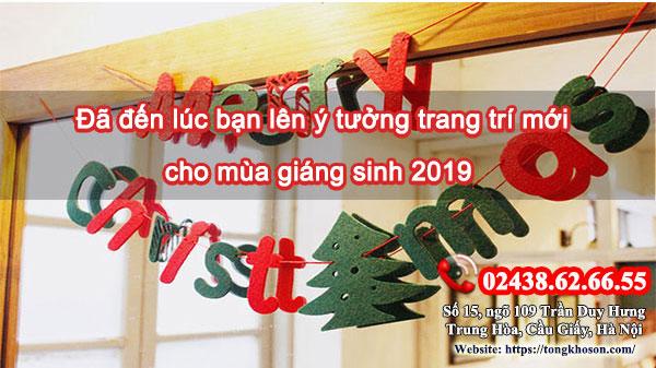 Đã đến lúc bạn lên ý tưởng trang trí mới cho mùa giáng sinh 2019