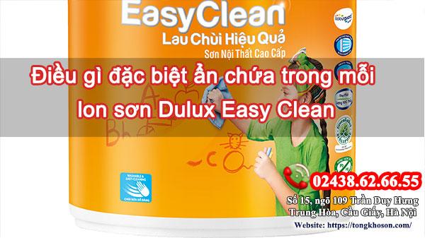 Điều gì đặc biệt ẩn chứa trong mỗi lon sơn Dulux Easy Clean