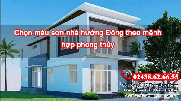 Chọn màu sơn nhà hướng Đông theo mệnh hợp phong thủy