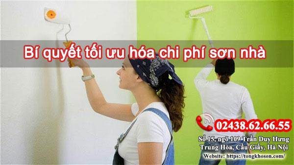 Bí quyết tối ưu hóa chi phí sơn nhà