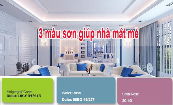 3 màu sơn giúp ngôi nhà mát mẻ trong mùa hè