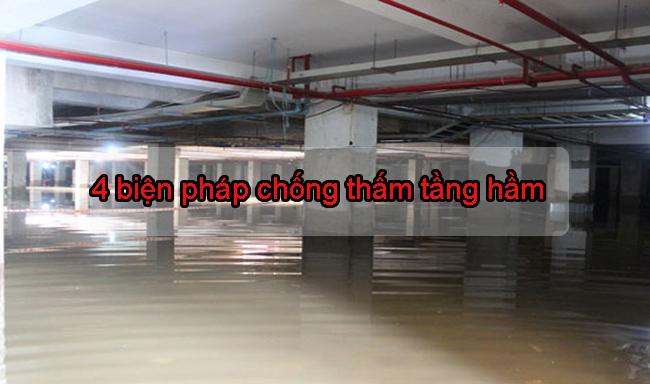 4 biện pháp đơn giản chống thấm sàn và vách tầng hầm