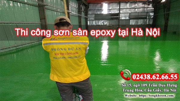Thi công sơn sàn epoxy tại Hà Nội