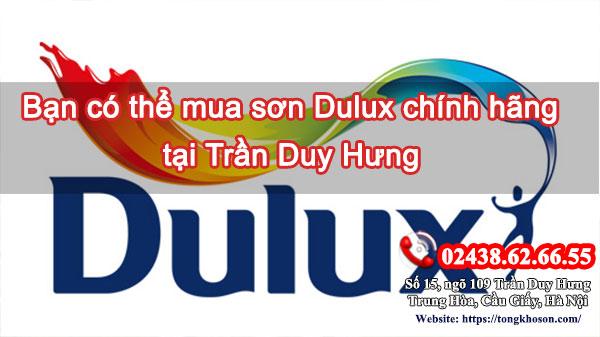 Bạn có thể mua sơn Dulux chính hãng tại Trần Duy Hưng