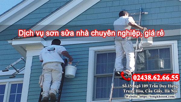 Dịch vụ sơn sửa nhà chuyên nghiệp, giá rẻ