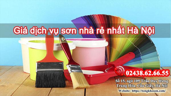Giá dịch vụ sơn nhà rẻ nhất Hà Nội