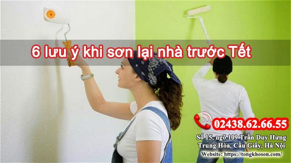 6 lưu ý khi sơn lại nhà trước Tết