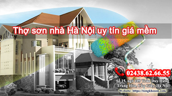 Thợ sơn nhà Hà Nội uy tín giá mềm