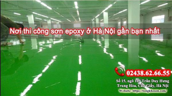 Nơi thi công sơn epoxy ở Hà Nội gần bạn nhất
